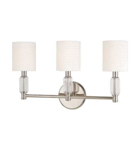 Hudson Valley Lighting Glacier 3 Light Wall Sconce in Polished Nickel 6123-PN photo