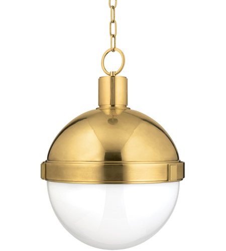 Hudson Valley 615-AGB Lambert 1 Light 15 inch Aged Brass Pendant Ceiling Light photo