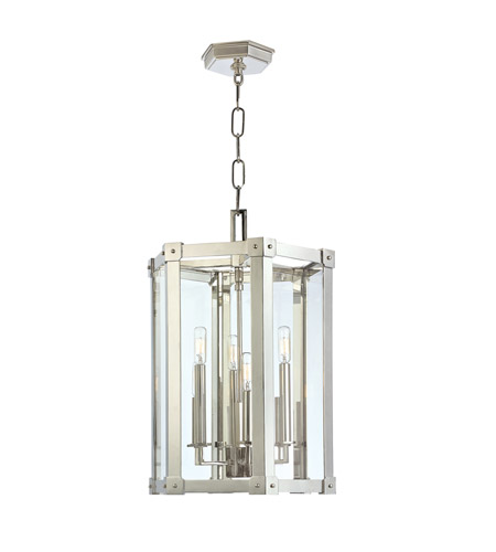 Hudson Valley Lighting Roxbury 6 Light Pendant in Polished Nickel 6215-PN photo