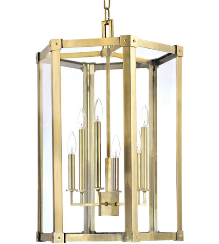 Hudson Valley 6220-AGB Roxbury 6 Light 21 inch Aged Brass Pendant Ceiling Light photo