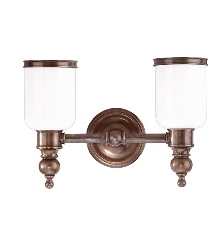 Hudson Valley 6302-DB Chatham 2 Light 15 inch Distressed Bronze Bath And Vanity Wall Light photo