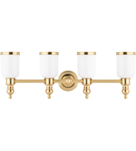 Hudson Valley Lighting Chatham 4 Light Bath And Vanity in Aged Brass 6304-AGB photo