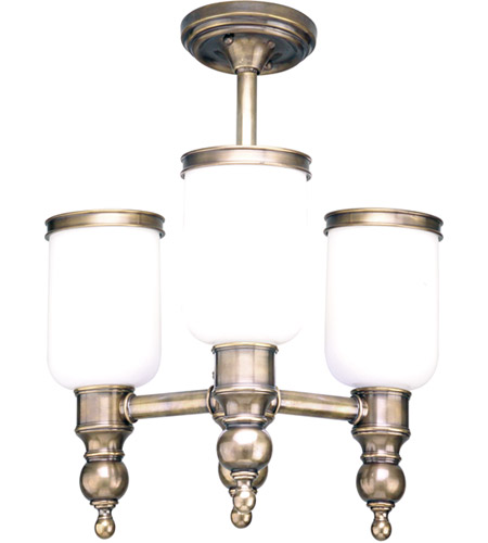 Hudson Valley Lighting Chatham 3 Light Semi Flush in Antique Nickel 6313-AN photo