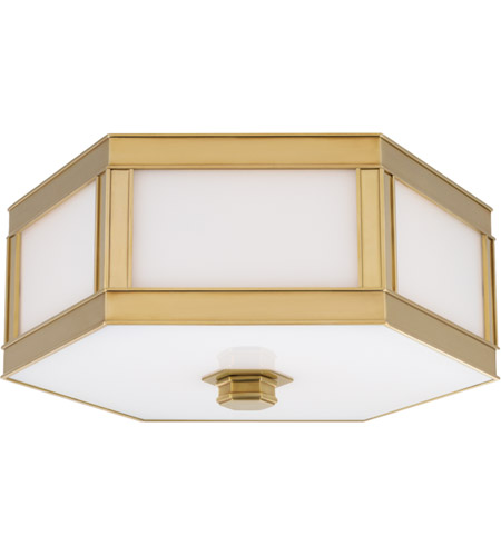 Hudson Valley 6413-AGB Nassau 2 Light 13 inch Aged Brass Flush Mount Ceiling Light photo