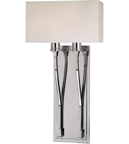 Hudson Valley 642-PN Selkirk 2 Light 10 inch Polished Nickel Wall Sconce Wall Light photo