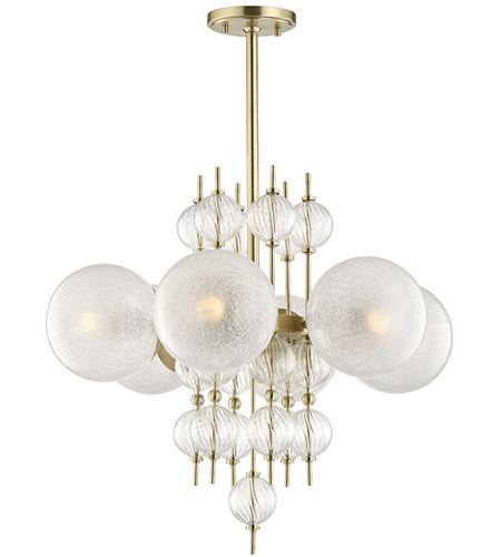 Hudson Valley 6427 Agb Calypso 6 Light 27 Inch Aged Br Chandelier Ceiling