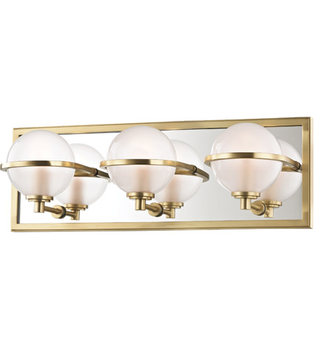 Hudson Valley 6443 Agb Axiom Led 18 Inch Aged Br Bath Vanity Wall Light