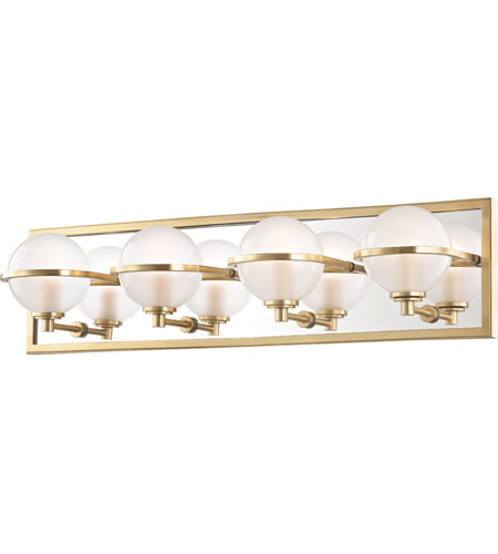 Hudson Valley 6444 Agb Axiom Led 24 Inch Aged Br Bath Vanity Wall Light