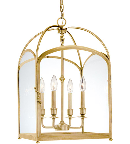 Hudson Valley Lighting Oxford 4 Light Pendant in Aged Brass 6484-AGB photo