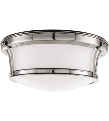 Hudson Valley 6513-SN Newport Flush 2 Light 13 inch Satin Nickel Flush Mount Ceiling Light photo