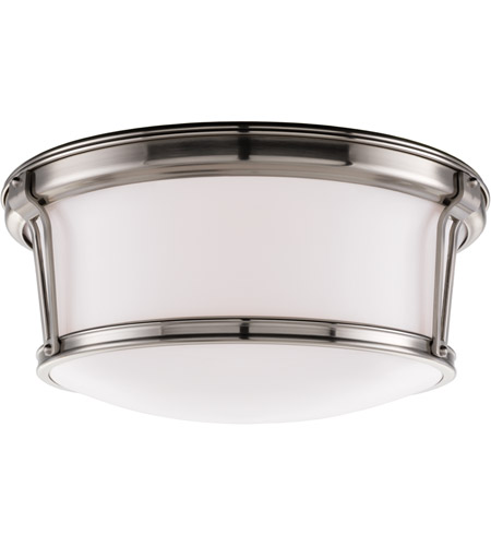 Hudson Valley Lighting Newport Flush 3 Light Flush Mount in Satin Nickel 6515-SN photo