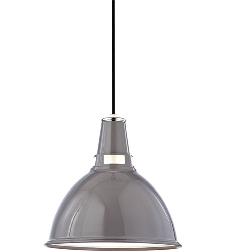 Hudson Valley 6816-GPN Lydney 1 Light 16 inch Gray/Polished Nickel Pendant Ceiling Light photo