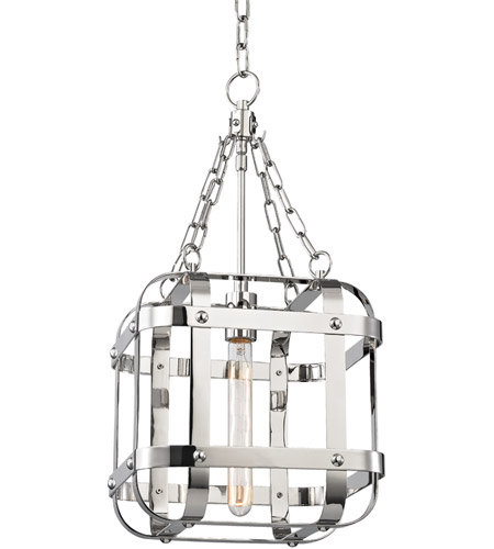Hudson Valley 6912 Pn Colchester 1 Light 12 Inch Polished Nickel Pendant Ceiling