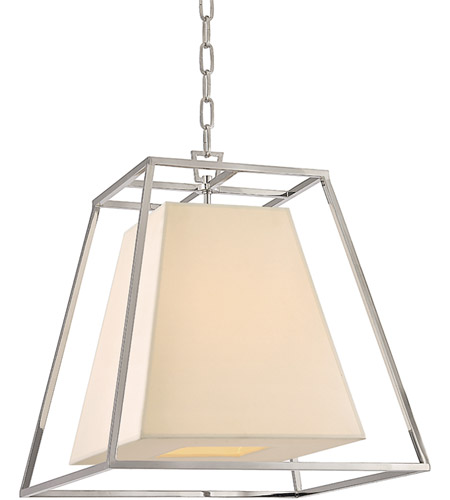 Hudson Valley Lighting Kyle 4 Light Pendant in Polished Nickel with Eco Paper Shade 6917-PN photo