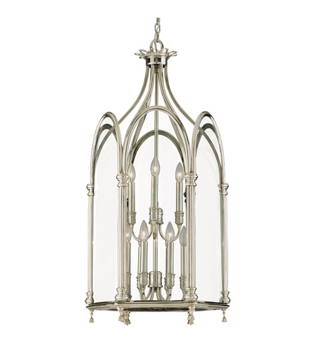 Hudson Valley Lighting Annadale 9 Light Pendant in Polished Nickel 6918-PN photo