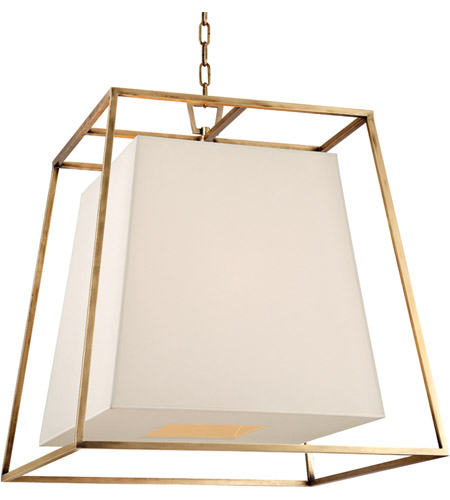Hudson Valley Lighting Kyle: Hudson Valley 6924-AGB-WS Kyle 6 Light 24 Inch Aged Brass