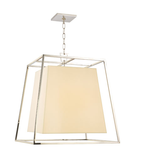 Hudson Valley Lighting Kyle 6 Light Chandelier in Polished Nickel with Eco Paper Shade 6924-PN photo