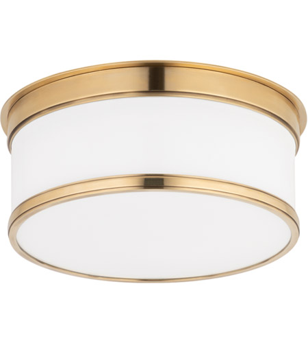 Hudson Valley 709-AGB Geneva 1 Light 9 inch Aged Brass Flush Mount Ceiling Light photo