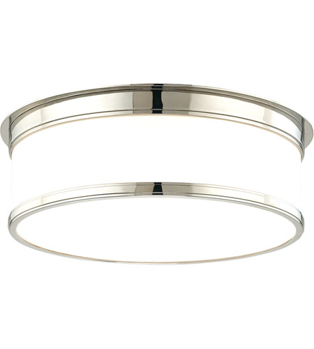 Hudson Valley 715-PN Geneva 3 Light 15 inch Polished Nickel Flush Mount Ceiling Light photo