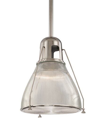 Hudson Valley 7311-PN Haverhill 1 Light 12 inch Polished Nickel Pendant Ceiling Light photo