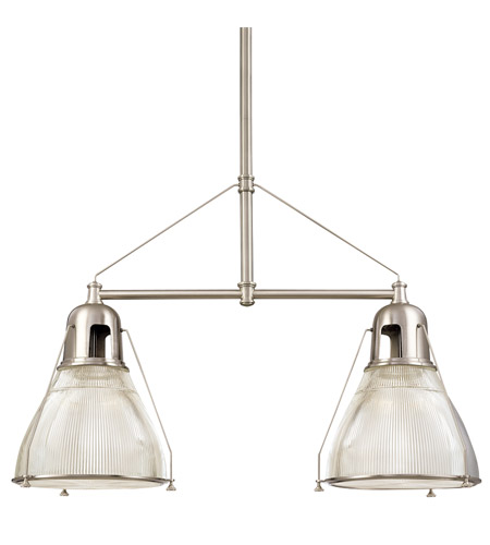 Hudson Valley Lighting Haverhill 2 Light Island Light in Satin Nickel 7312-SN photo