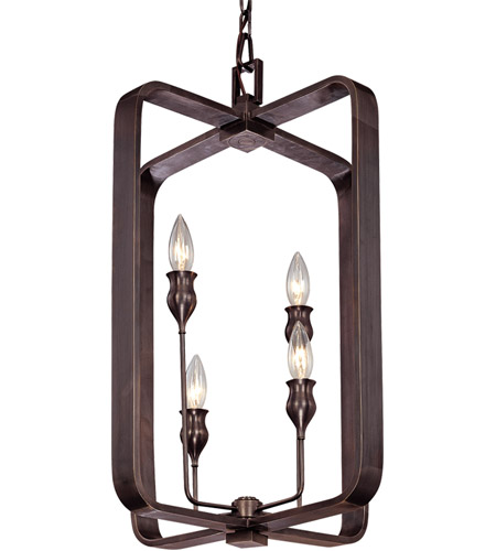 Hudson Valley Lighting Rumsford 4 Light Pendant in Old Bronze 7416-OB photo