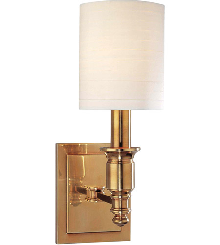Hudson Valley 7501-AGB Whitney 1 Light 5 inch Aged Brass Wall Sconce Wall Light photo