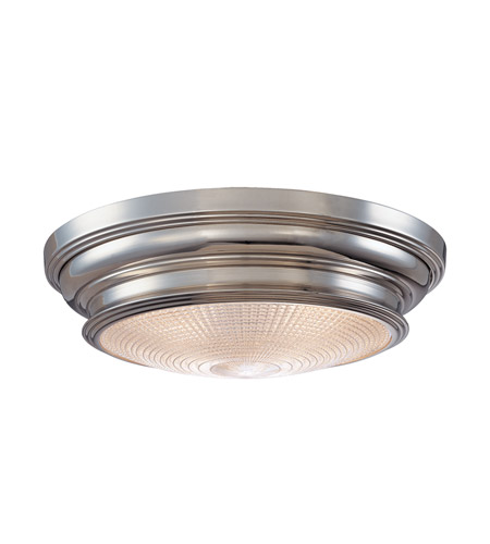Hudson Valley 7520-PN Woodstock 3 Light 20 inch Polished Nickel Flush Mount Ceiling Light photo