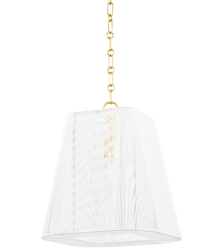 Hudson Valley Lighting Berkshire 4 Light Pendant in Aged Brass 7614-AGB photo