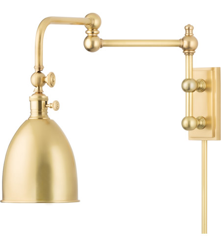 Hudson Valley 771-AGB Roslyn 1 Light 6 inch Aged Brass Wall Sconce Wall Light photo
