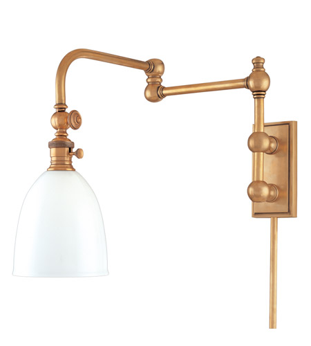 Hudson Valley Lighting Monroe 1 Light Wall Sconce in Aged Brass 772-AGB photo