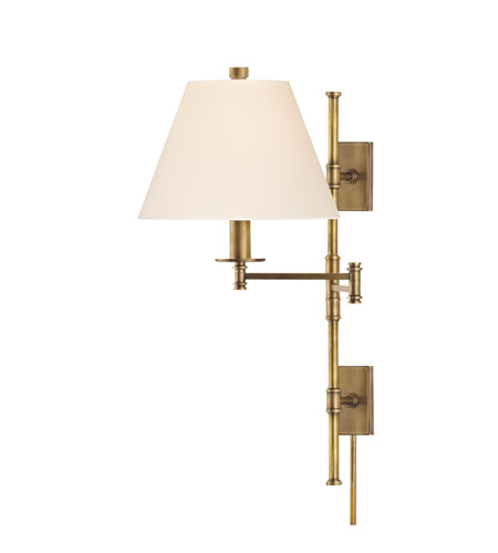 Hudson Valley 7731-AGB Claremont 1 Light 12 inch Aged Brass Wall Sconce Wall Light in Eco Paper photo