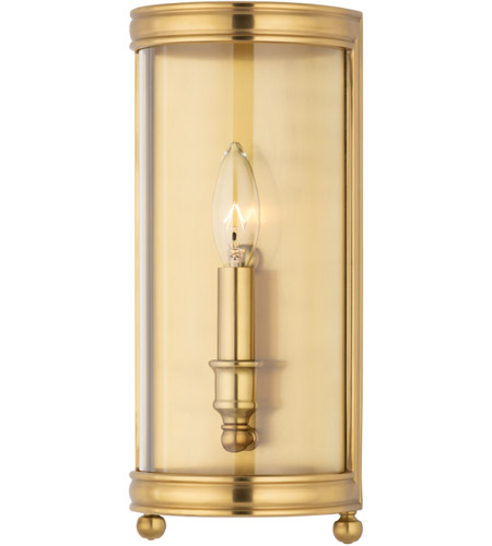 Hudson Valley 7801-AGB Larchmont 1 Light 6 inch Aged Brass Wall Sconce Wall Light photo