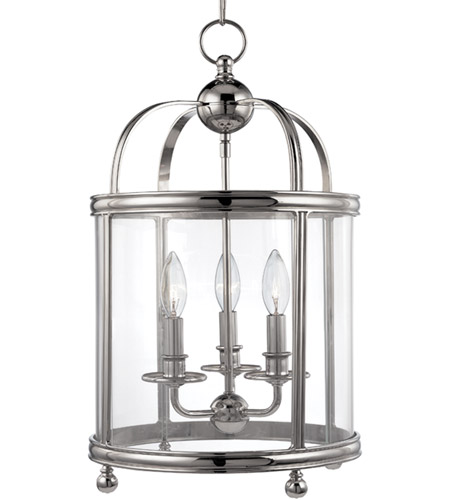 Hudson Valley Lighting Larchmont 3 Light Pendant in Polished Nickel 7812-PN photo