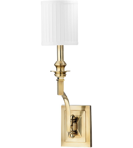 Hudson Valley Lighting Mercer 1 Light Wall Sconce in Aged Brass 7901-AGB photo