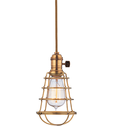 Hudson Valley 8001-AGB-WG Heirloom 1 Light 2 inch Aged Brass Pendant Ceiling Light in Yes photo