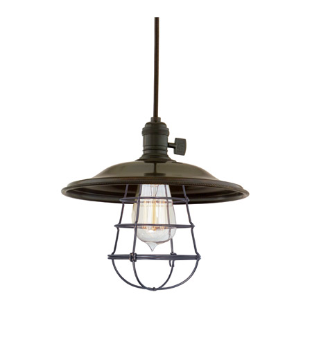 Hudson Valley 8001-OB-MS2-WG Heirloom 1 Light 10 inch Old Bronze Pendant Ceiling Light in MS2, Yes photo