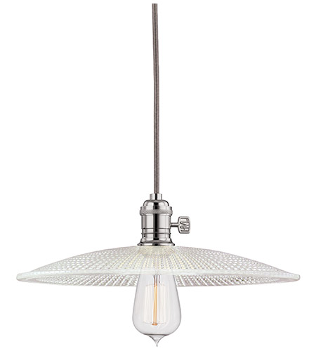 Hudson Valley Lighting Heirloom 1 Light Pendant in Polished Nickel 8001-PN-GS4 photo