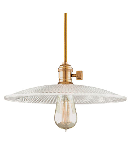 Hudson Valley 8001-AGB-GM4 Heirloom 1 Light 12 inch Aged Brass Pendant Ceiling Light in Clear Glass, GM4, No photo