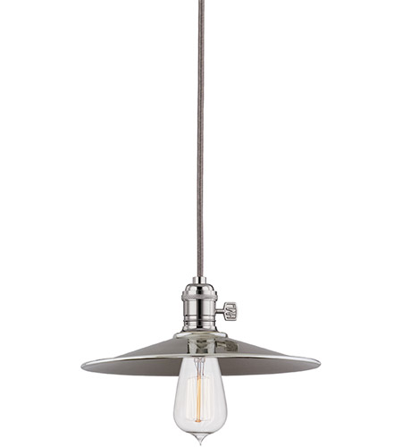 Hudson Valley 8002-PN-MS1 Heirloom 1 Light 10 inch Polished Nickel Pendant Ceiling Light in MS1, No photo