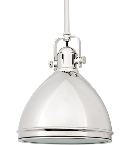 Hudson Valley 8008-PN Marion 1 Light 8 inch Polished Nickel Pendant Ceiling Light photo