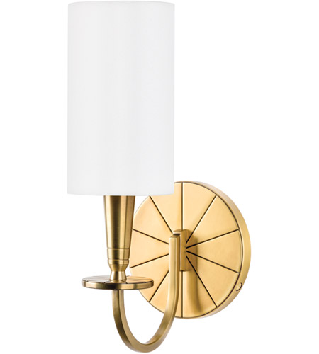 Hudson Valley Lighting Mason 1 Light Wall Sconce in Aged Brass 8021-AGB photo