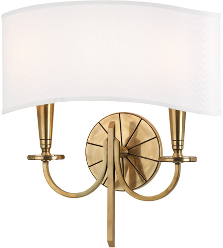 Hudson Valley 8022-AGB Mason 2 Light 14 inch Aged Brass Wall Sconce Wall Light photo
