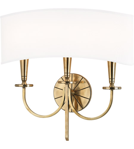 Hudson Valley 8023-AGB Mason 3 Light 17 inch Aged Brass Wall Sconce Wall Light photo