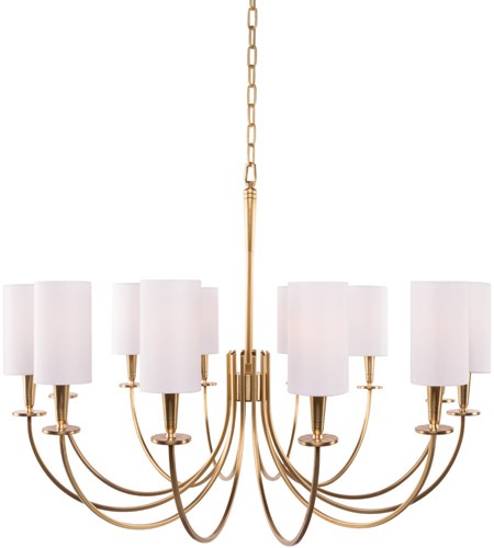 official photos 12fa5 399a4 Hudson Valley 8032-AGB Mason 12 Light 35 inch Aged Brass Chandelier Ceiling  Light