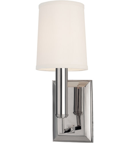 Hudson Valley Lighting Clinton 1 Light Wall Sconce in Polished Nickel 811-PN photo