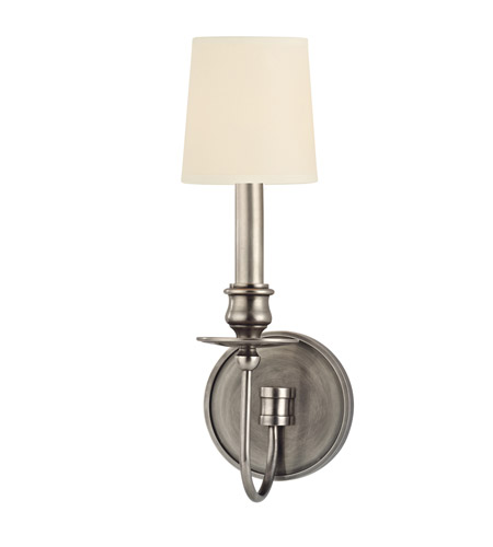 Hudson Valley 8211-AS Cohasset 1 Light 5 inch Aged Silver Wall Sconce Wall Light in Eco Paper photo