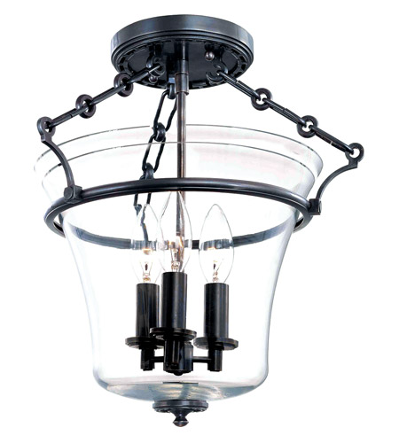 Hudson Valley Lighting Eaton 3 Light Semi Flush in Old Bronze 830-OB photo