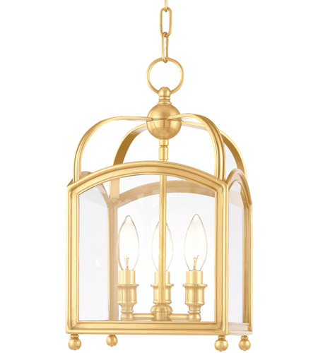 Hudson Valley 8409-AGB Millbrook 3 Light 9 inch Aged Brass Pendant Ceiling Light photo