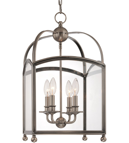 Hudson Valley Lighting Millbrook 4 Light Pendant in Historic Nickel 8412-HN photo